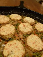 Vegetable Pot Pie with Biscuit Crust